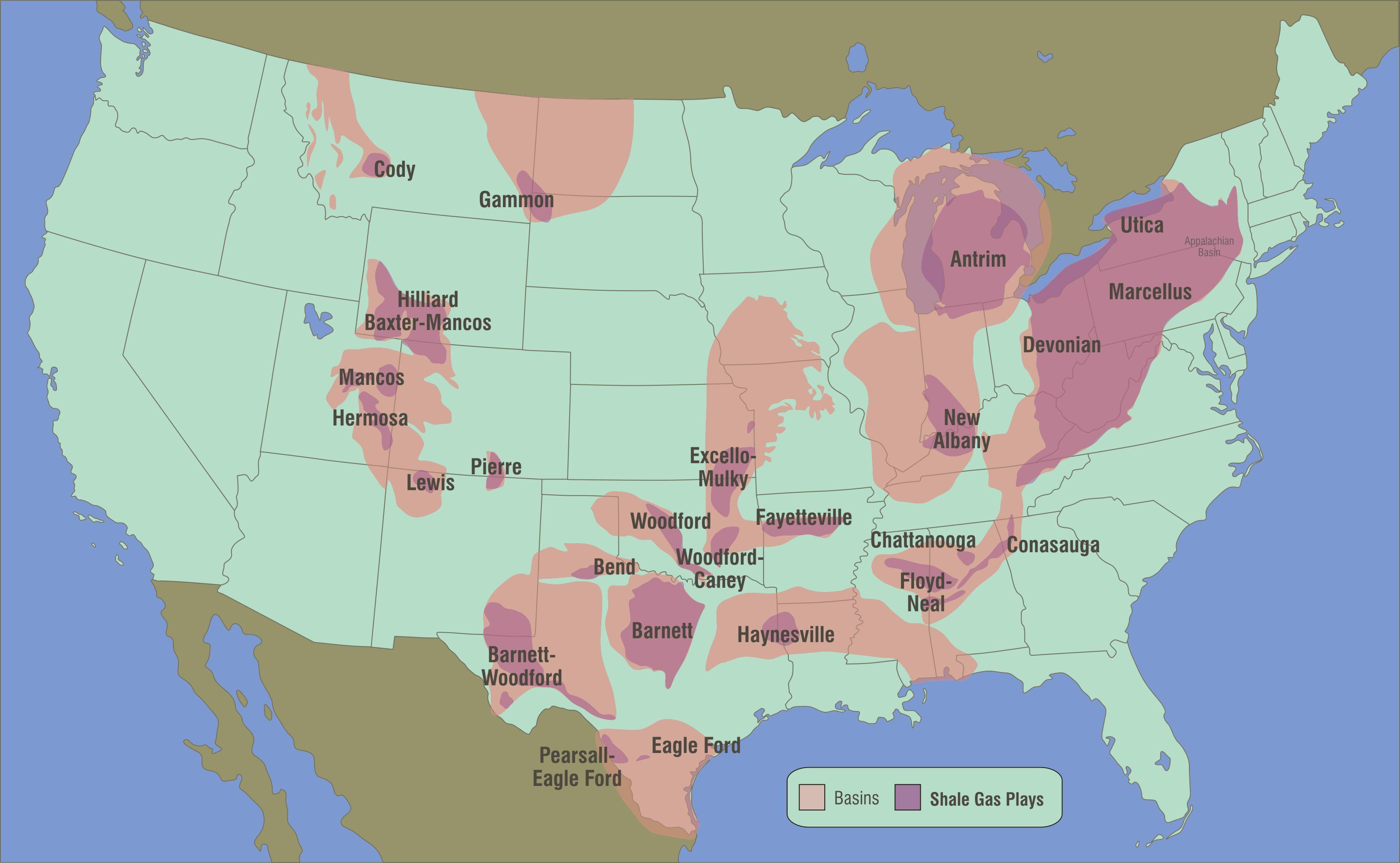USA Map Of Oil Gas Drilling Fracking Sites And Health Safety - Oil from texas in us map